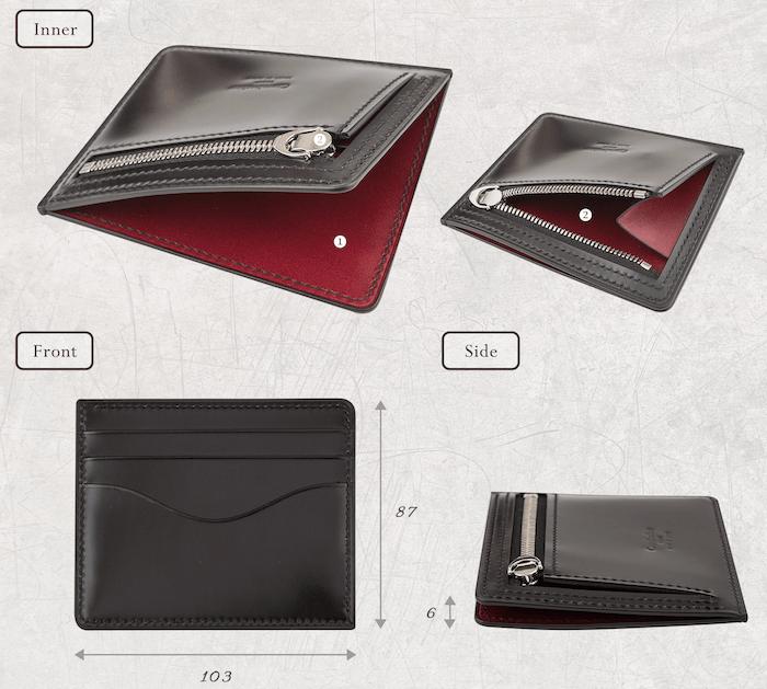 メンズレザーファクトリーの薄型メンズ財布の詳細