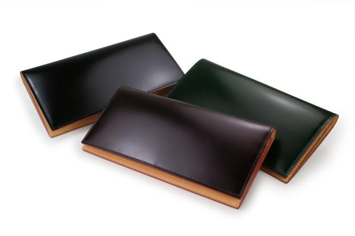 ガンゾのコードバン長財布のカラー
