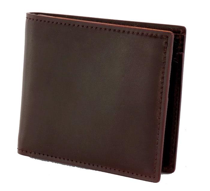 ガンゾのシェルコードバン二つ折り財布