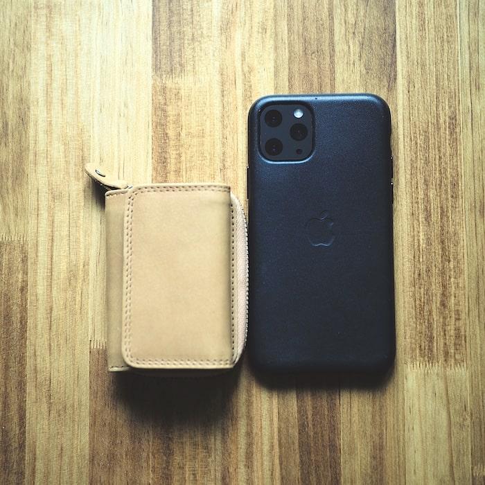 ハレルヤ「tinyミニ財布」のサイズ比較