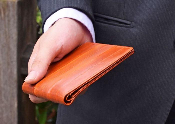 ハレルヤのウナギ革財布