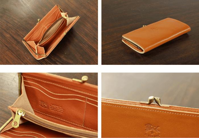 イルビゾンテの「スリムガマ口長財布」の内装