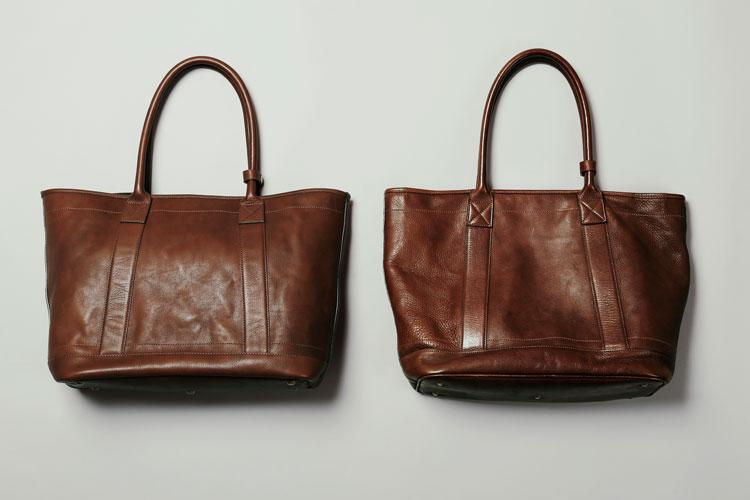 土屋鞄ビークルシリーズのエイジング例
