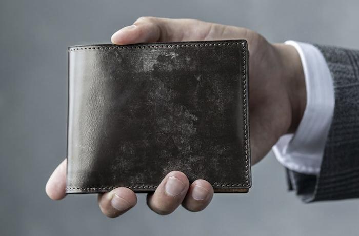 crafstoブライドルレザー二つ折り財布