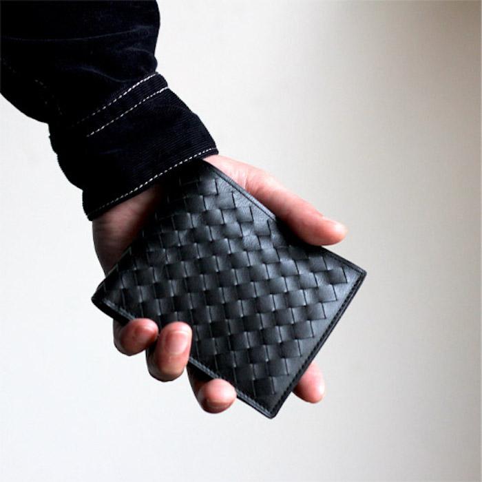 土屋鞄製造所編み込み二つ折り財布