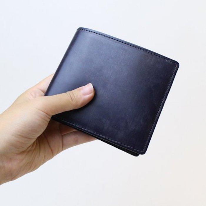 山藤のブライドル二つ折り財布