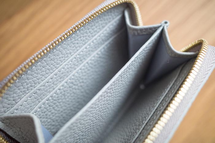 エゾンドサブレのミニ財布はポケットが多い